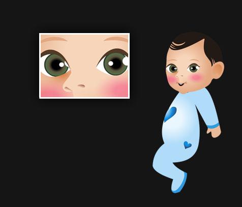 עיצוב דמות תינוק לאירוע ברית מילה